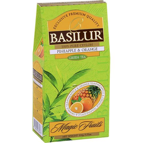 basilur Зеленый чай Basilur Ананас и Апельсин картон 100 г 2697469