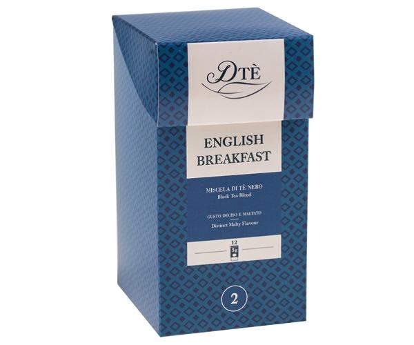 Черный чай DTè English Breakfast фильтр-пак 12 шт Caffe Diemme