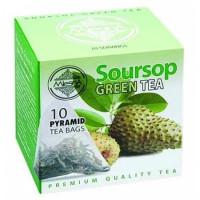 Зеленый чай Саусеп в пакетиках Млесна картон 20г
